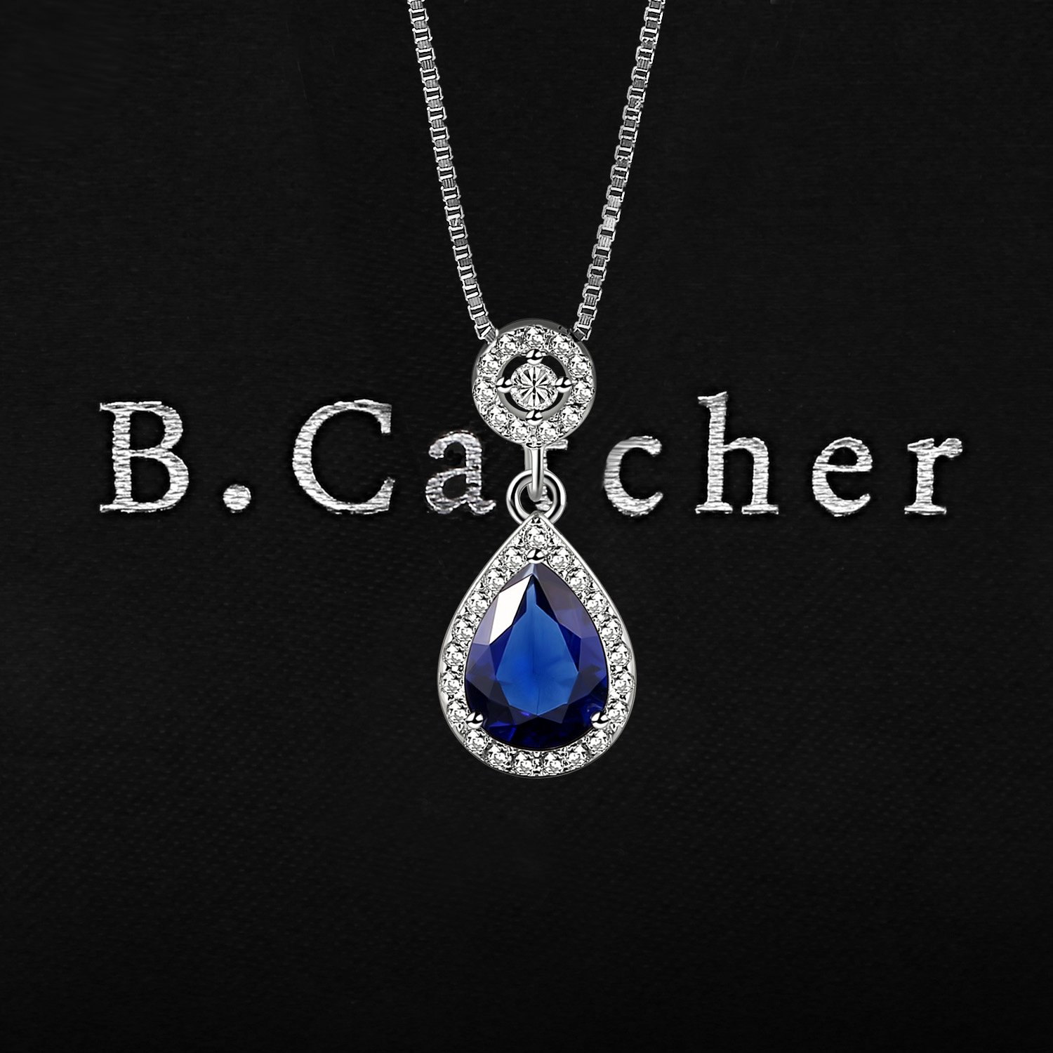 Jewelry & Accessories Active Natural Blue Topaz Gem Pendant S925 Silver Natural Gemstone Pendant Necklace Trendy Classic Diana Round Women Girl Gift Jewelry Wide Selection; Fine Jewelry