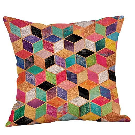 beetleNew Cushion Cover Funda de cojín, diseño geométrico ...