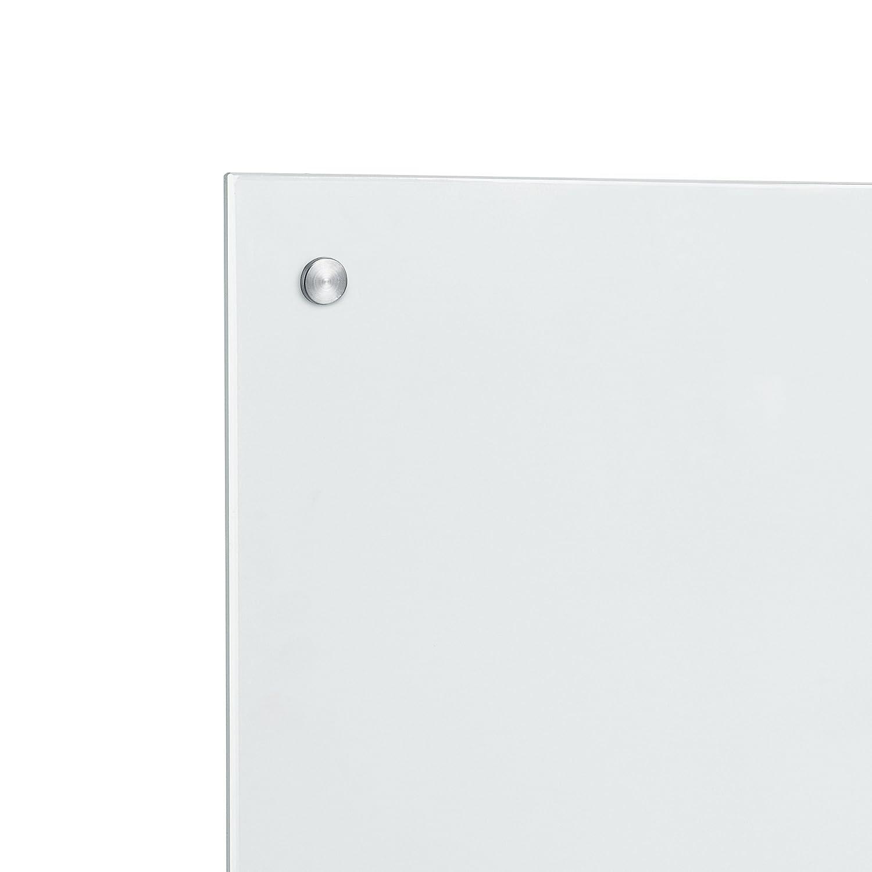[neu.haus] Panel de cristal para pared cocina protección contra salpicaduras (70x40cm) - mate - material de montaje incluido