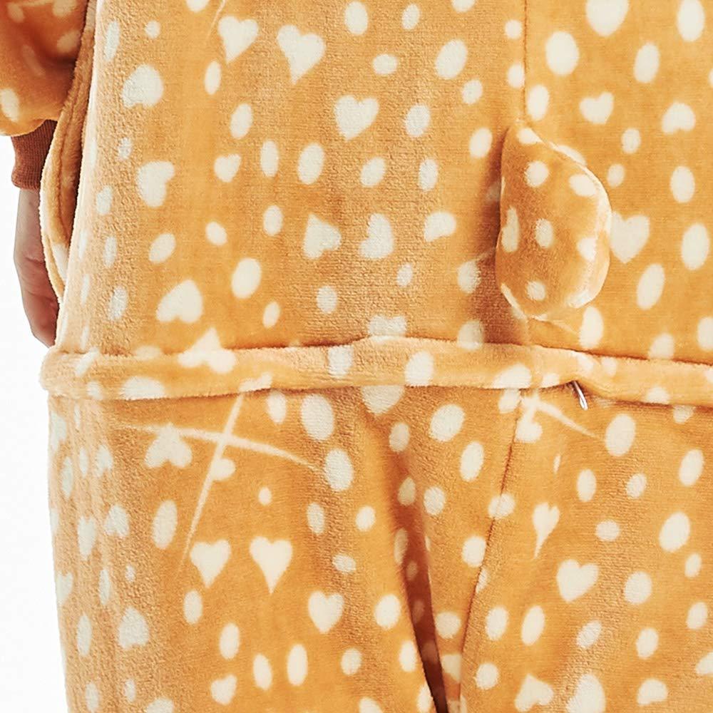 16d6bdd66e398 DecoBay Doux Pyjama Femme Adulte Mouton Cachemire Animal Vêtements De Nuit  Wapiti Vêtements