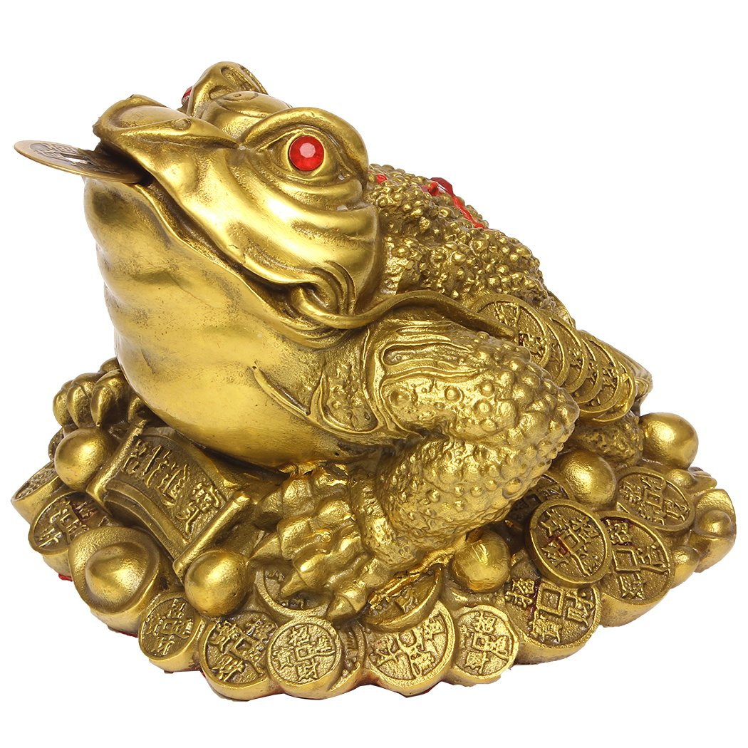 Brass Money Frog/Toad Figurine Statue Handmade Home Ornaments Collectible BS046 LTD.