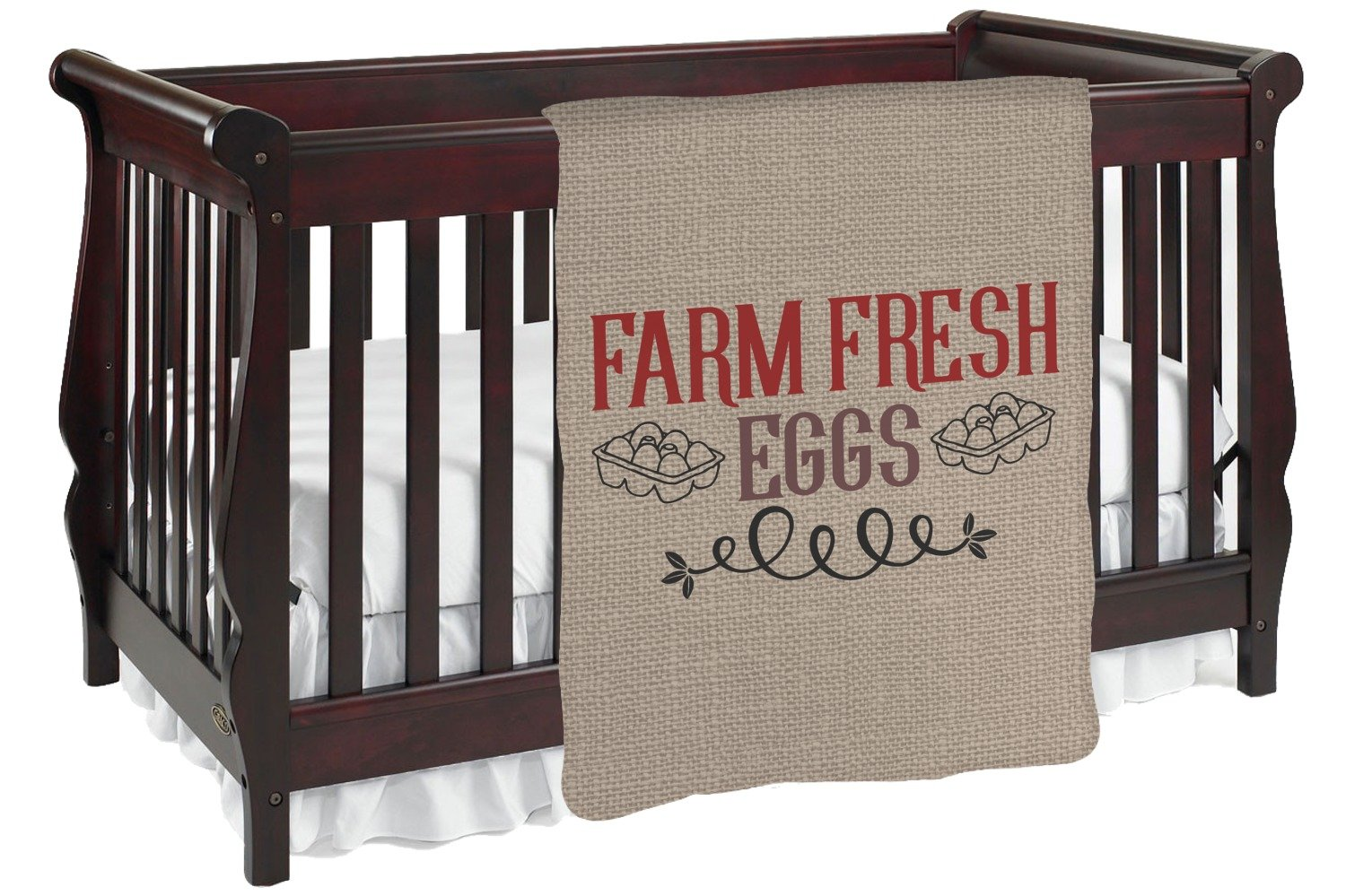 Amazon.com: Farm Quotes Baby Blanket (Double Sided) (Personalized): Home & Kitchen