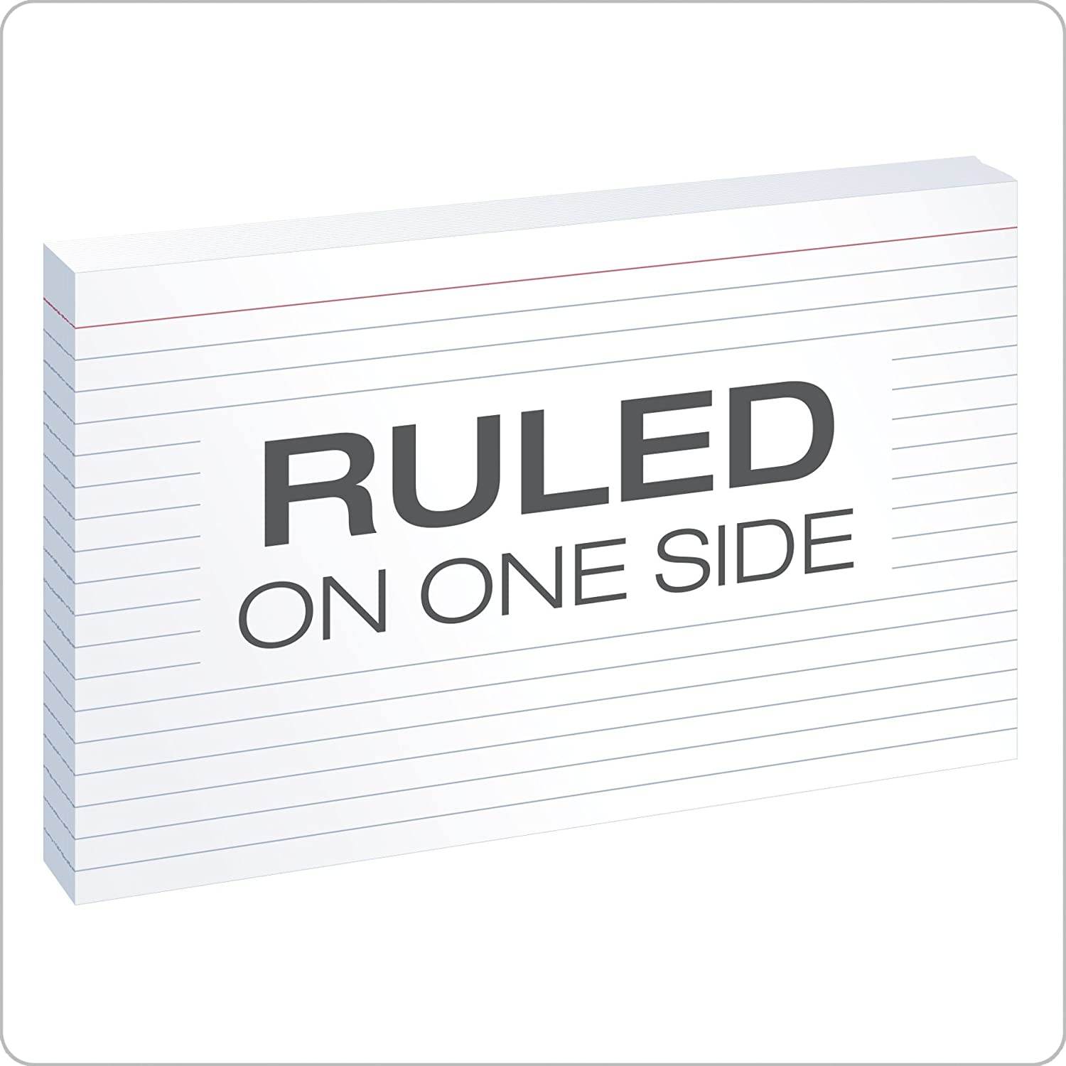 """oxford ruled index cards 5"""" x 8"""" white 100 pack"""