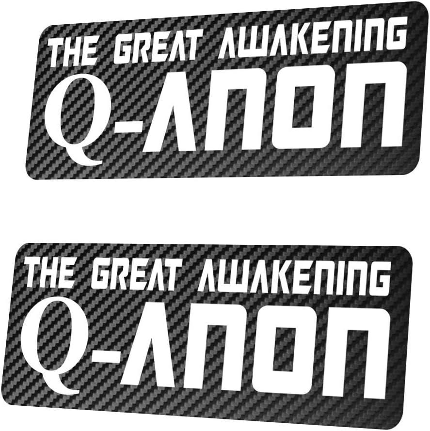 2X QANON Carbon The Great Awakening Sticker Aufkleber 25x10 cm Trump 17 Q-Anon Carbon Oder Chrom w/ählbar