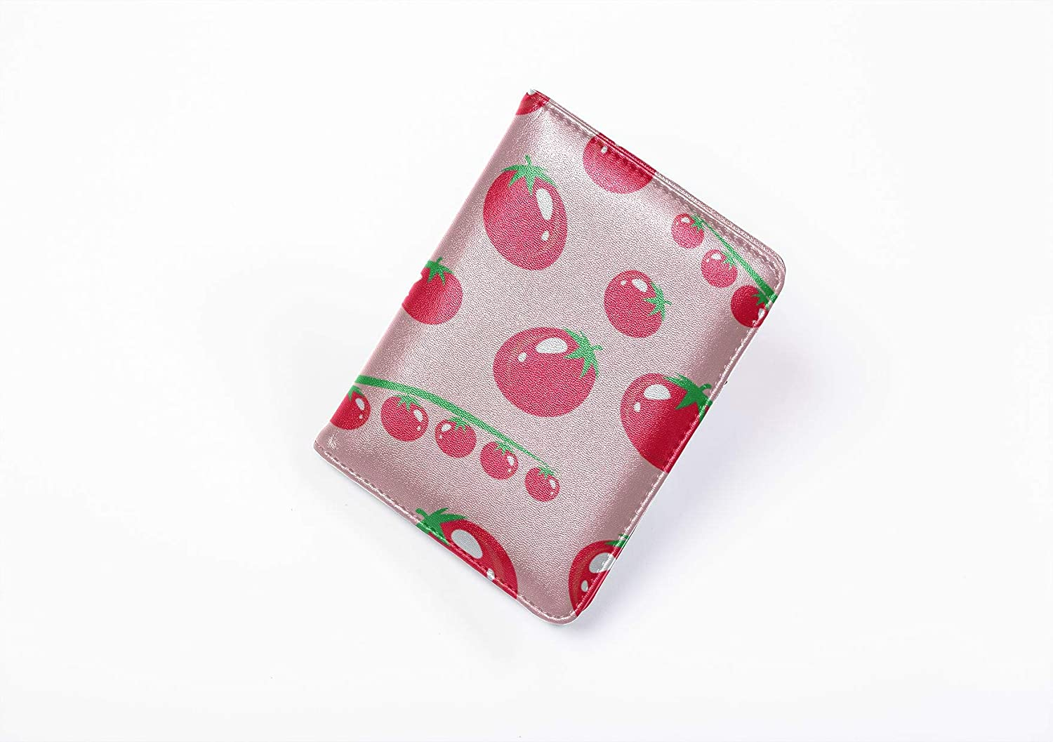 Luxury Passport Cover Fashion Vegetables Tomatoes Zipper Passport Cover Multi Purpose Print Leather Passport Case Travel Wallets For Unisex 5.51x4.37 Inch