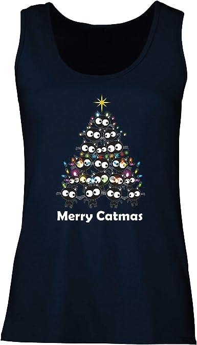 lepni.me Camisetas sin Mangas para Mujer Feliz Navidad de ...
