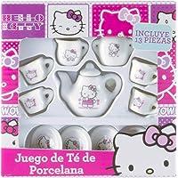 Sac Designs Hello Kitty Juego de Té para 4 Personas - Juego de Té para Niña