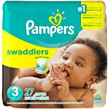Pampers Swaddlers Disposable Diapers Size 3, 27 Count, JUMBO
