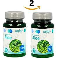 SAKAI Aloe Vera 200 compresse Confezione da 2 (100 + 100) regola il transito intestinale, l'effetto detox, la pulizia del colon, contro la stitichezza, disintossica il corpo.