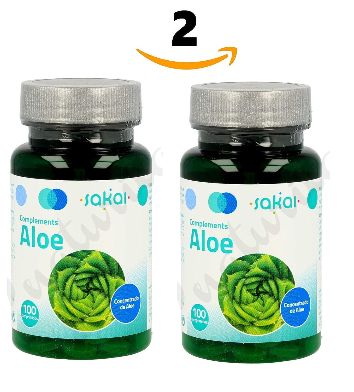 SAKAI Aloe Vera 200 Comprimidos Pack de 2 (100 + 100) regula el ...