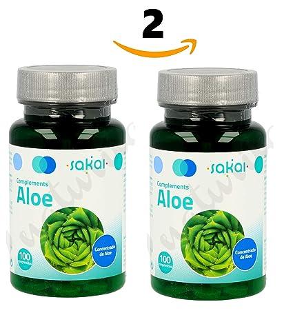 SAKAI Aloe Vera 200 Comprimidos Pack de 2 (100 + 100) regula el tránsito