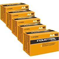 Duracell 50X Industrial AA Batteries Alkaline 1.5V LR6 MN1500 Replaces Procell AA Pack of 50
