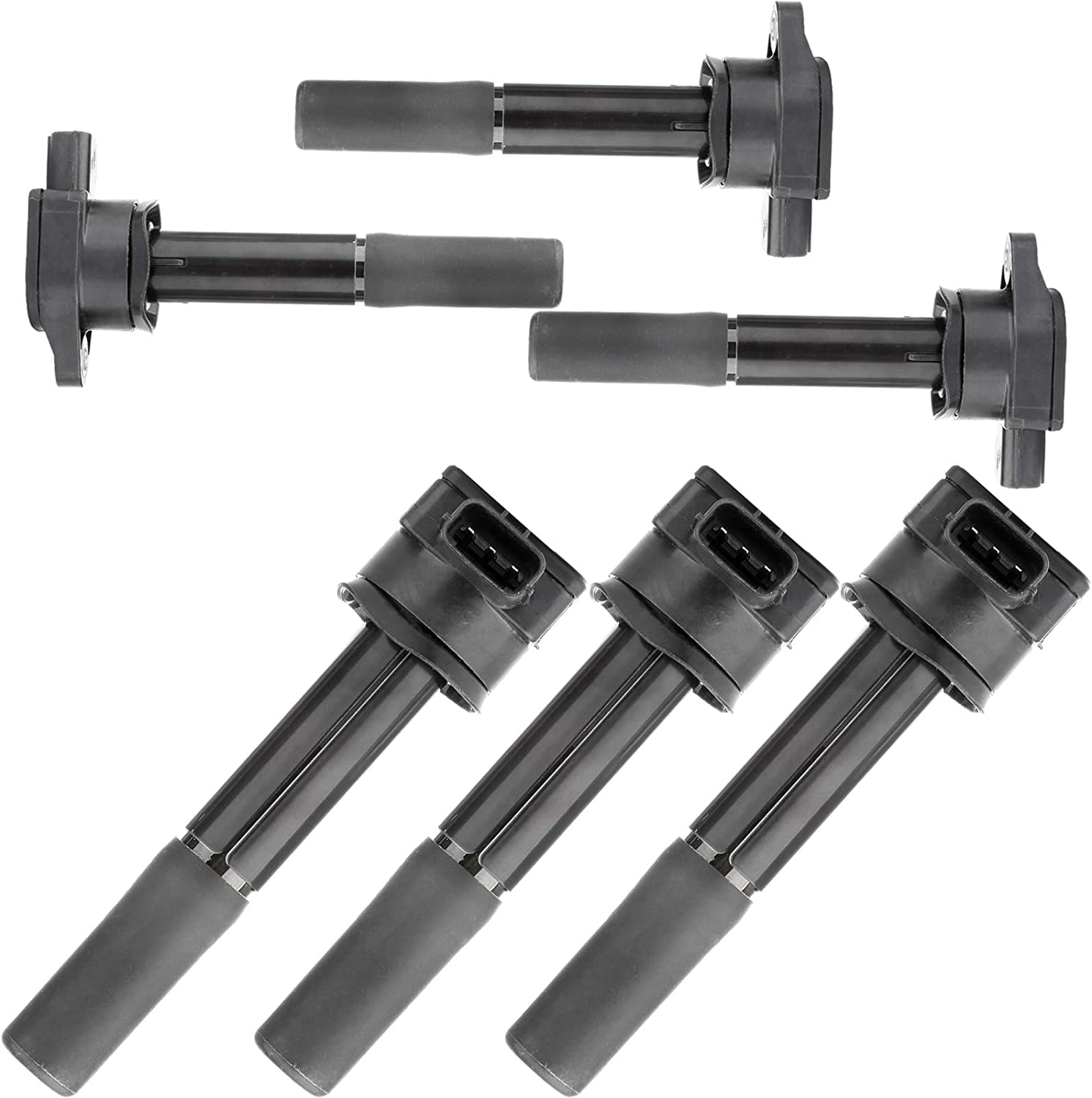 ROADFAR Pack of 6 Ignition Coils Fit for Mitsubishi Endeavor Mitsubishi Galant V6 3.8L 2004-2008 Equivalent with OE UF481 C1505