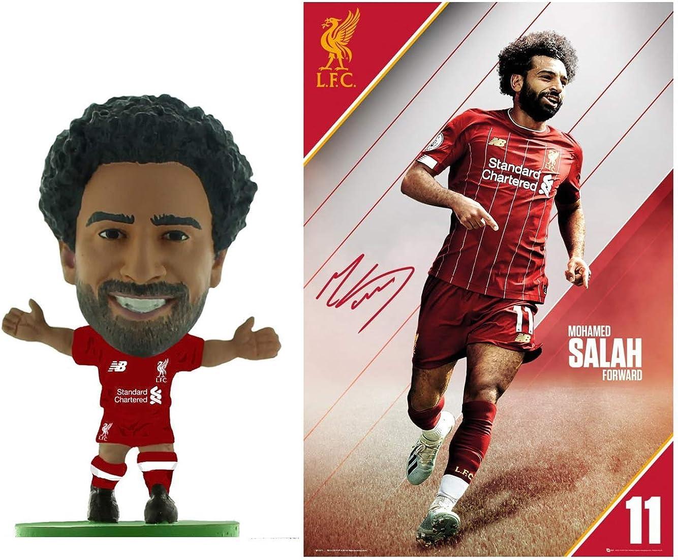 2 Pieces Mohamed Salah Figure /& Poster Combo Pack SoccerStarz Liverpool