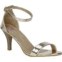 VAGON MISTO Women's Leather Heel Sandals
