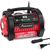 $59 » AVID POWER Tire Inflator Air Compressor, 12V DC / 110V AC Dual Power Tire Pump with…