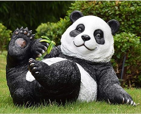 FRP, Simulación, Adornos De Animales Panda, Jardín Urbano Al Aire ...