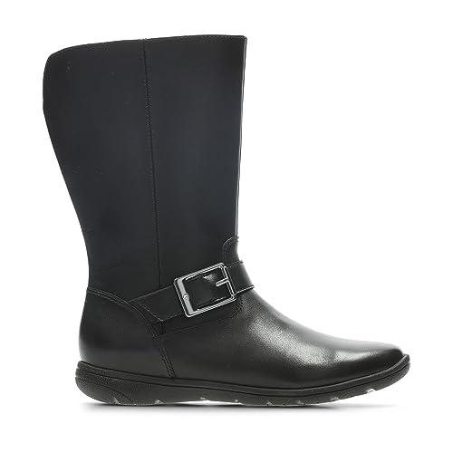 Girls Clarks Stylish Knee High Boots Venture Moon Schuhe Für Mädchen
