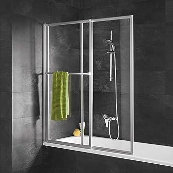 Schulte D1130 01 50 Mampara para bañera, Aluminio natural, 70-118 cm: Amazon.es: Bricolaje y herramientas