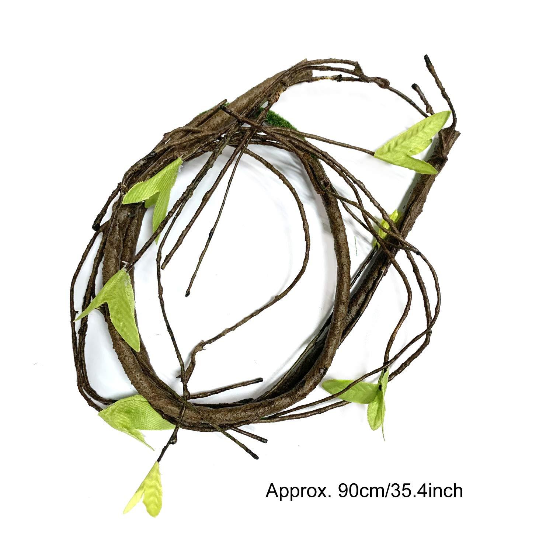 Geco Seagrass Rettile Amaca con Rampicanti Artificiali e Piante per Anfibi 21 pezzi Rettile Lucertola Habitat Accessori Camaleonte PietyPet Barbuto/Drago Amaca Serpenti Lucertole