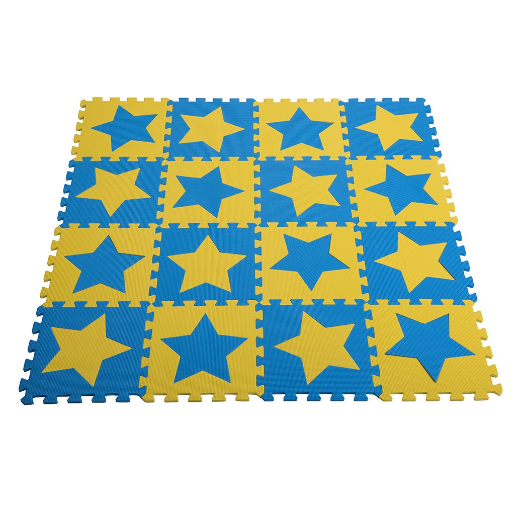 Zoeshare 16 Piece Kids Puzzle Play Mat with Foam Stars
