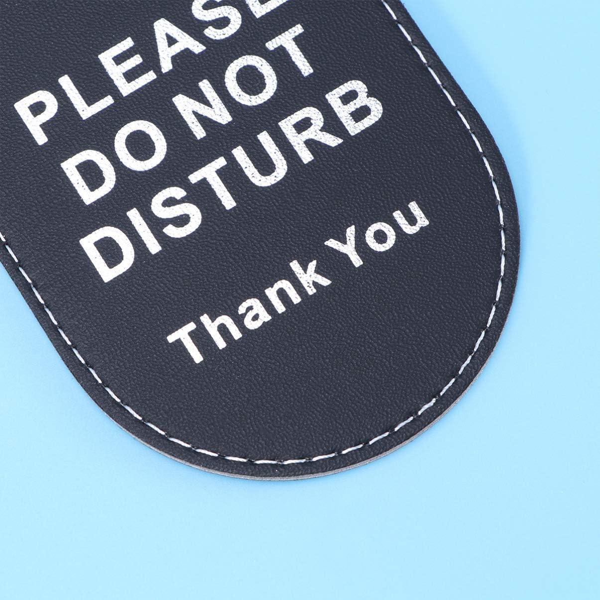 Toyvian per Favore Non Disturbare Cartello Appendiabiti Segno Pulizia Bifacciale per Pomoli per Porte Home Hotel Spa Spa Studio Legale Massaggi