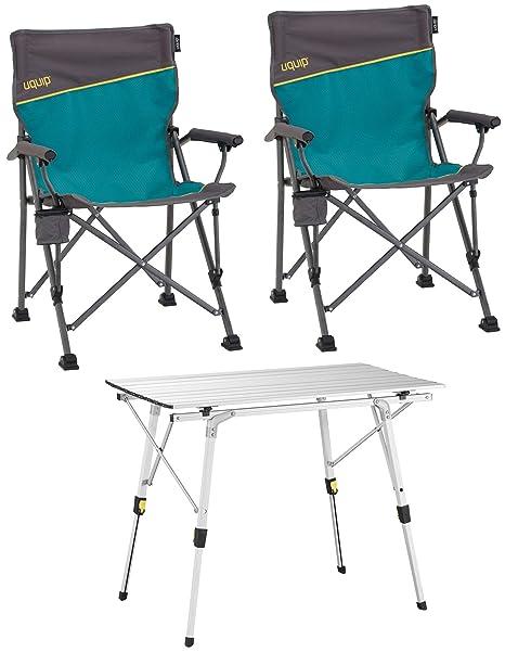 Sedie Da Campeggio Pieghevoli.Uquip Bloody Set Tavolo E Sedie Da Campeggio Composto Da 1 Tavolo
