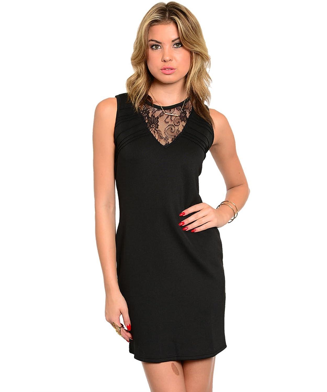 Partykleid / Minikleid, feine Spitze, figurbetont - schwarz kaufen