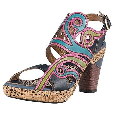 los angeles 7f652 b2ce8 Laura Vita Vessa Jeans Donna Sandali: Amazon.it: Scarpe e borse