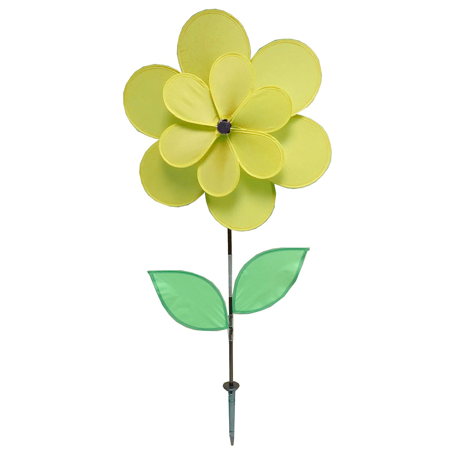 Gardener's Select A005A Double Petal Pin Wheel, Yellow, 18 by 18
