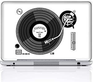 Meffort Inc 15 15.6 Inch Laptop Notebook Skin Sticker Cover Art Decal (Free Wrist pad) - Record Player