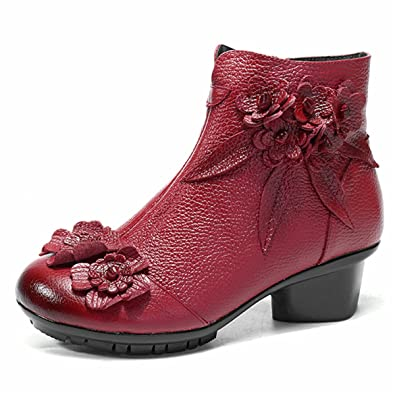 b19a441d00ce socofy Leather Ankle Boots