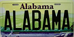 Alabama State License Plate Fridge Magnet