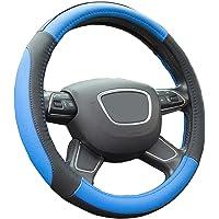 Finoki Auto Universal Anti Rutsch Atmungsaktive Lenkradhülle Lenkradbezug Lenkradschoner Lenkradabdeckung Lenkradschutz aus Mikrofaser-Leder 36-38cm