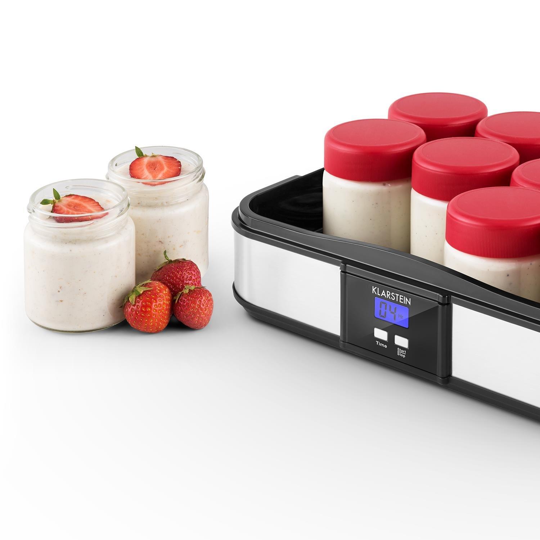 Klarstein Juego de Vasos para yogurtera Gaia Tapa roscada 210ml 12x