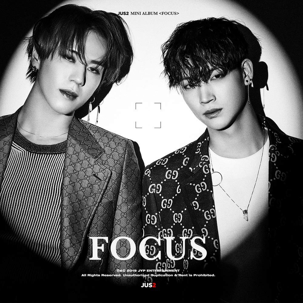 K-POP GOT7 JUS2 - 1st Mini Album [Focus] (A + B, all versions SET) 2CD + PhotoBook + 2Lyrics Posters + 2Photocard + 2Special Photocard + Pre-Order Benefit + 2Folded Poster + Extra Photocards Set