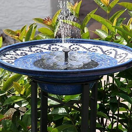 Tekhome Solar Water Fountain Solar Bird Bath Fountain Solar Water Features For The Garden Floating Solar Fountain Solar Powered Water Feature Solar Panel Water Pump For Pond Pool Amazon Co Uk Garden Outdoors