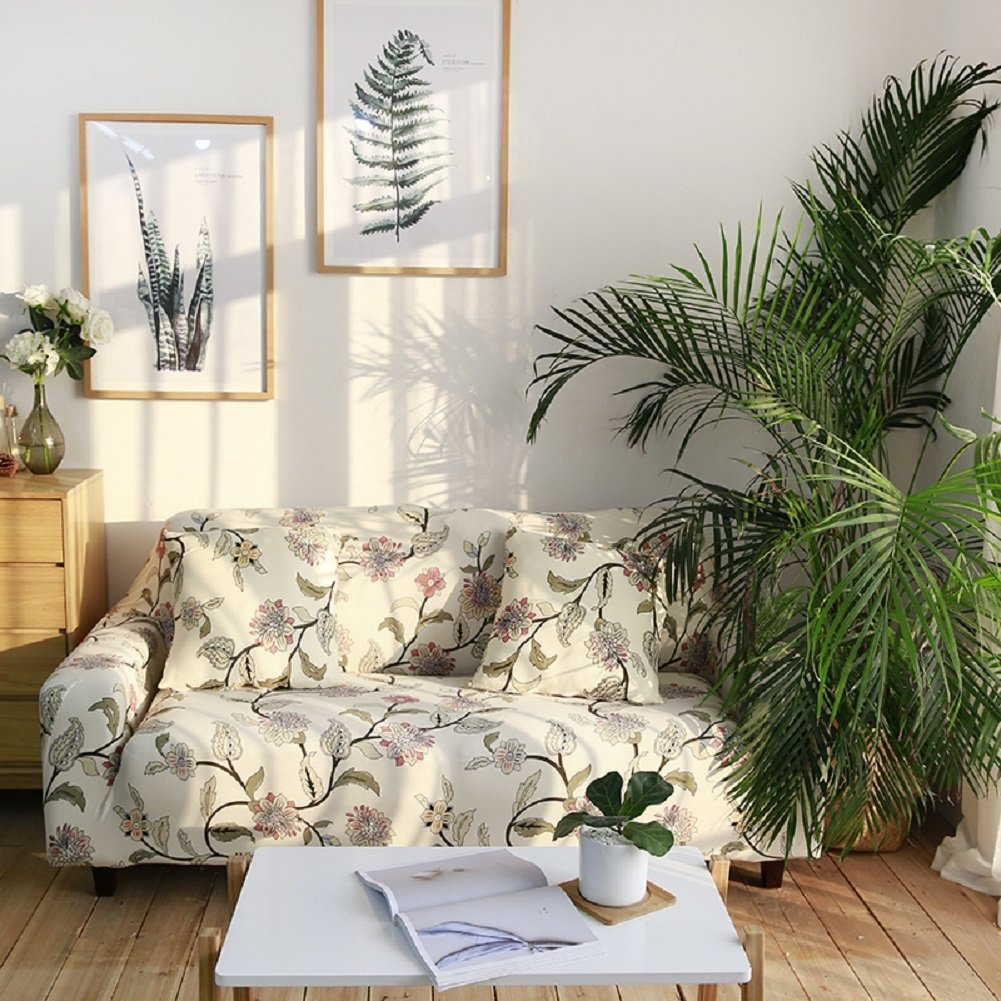 New Slipcover Stretch Sofa Cover Sofa With Loveseat Chair: HOTNIU Stretch Sofa Loveseat Cover Pattern Arm Chair Couch