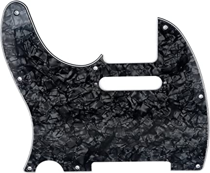 Musiclily 8 Hole Tele Pickguard for USA//Mexican Made Fender American Standard Telecaster Modern Style Electric Guitar 3Ply White
