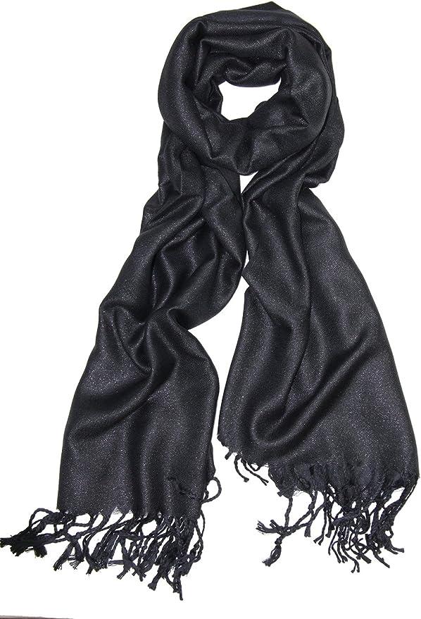 2018 Classical Reversible Metallic Floral 55/% Pashmina 45/% Silk Scarf Stole Wrap