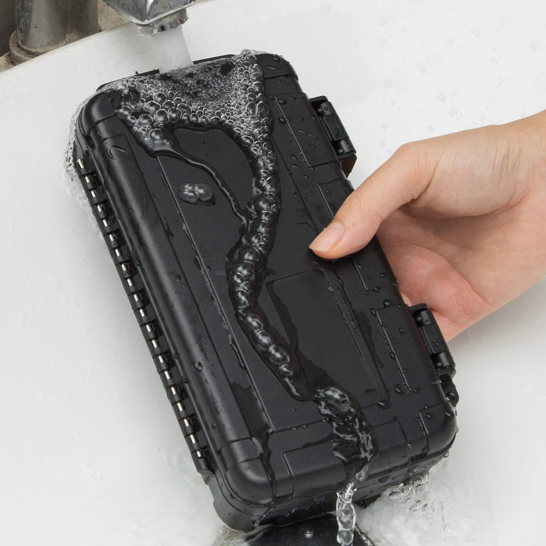negro caja de almacenamiento compacta y resistente con espuma para c/ámaras de v/ídeo OCGIG Bolsa de pl/ástico r/ígido impermeable para guardar herramientas equipos de medici/ón