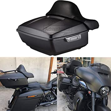 Black Tour Pak 2 Up Black Detachable Mounting Rack for Harley Street Glide Road King Glide Electra Glide 2014-2020
