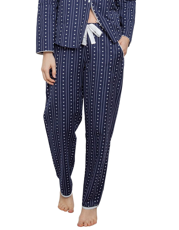 TALLA 38. Cyberjammies 3847 Women's Zoe Navy Blue Heart Print Pajama Pyjama Pant