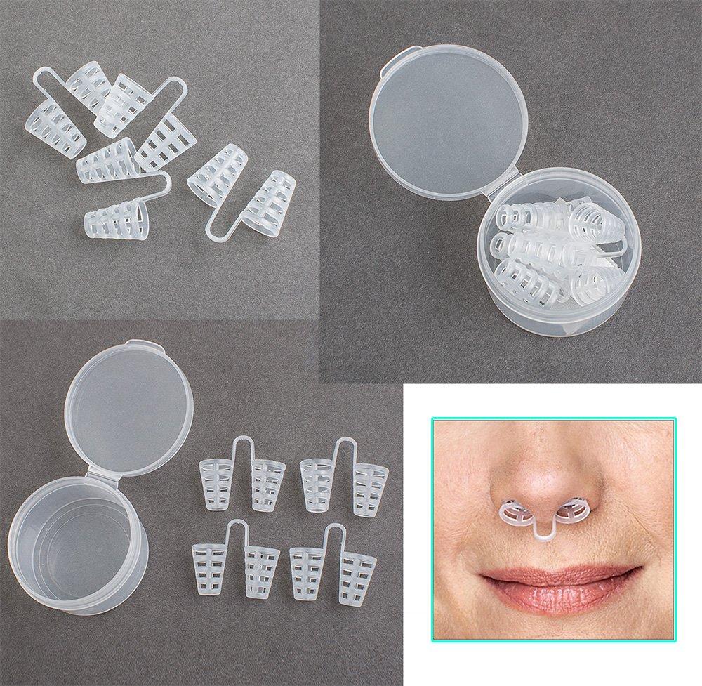 Risingmed NasenDilator, weich, Anti-Schnarch-Schutz, Schnarch-Stopper, bequem, 4 Stück