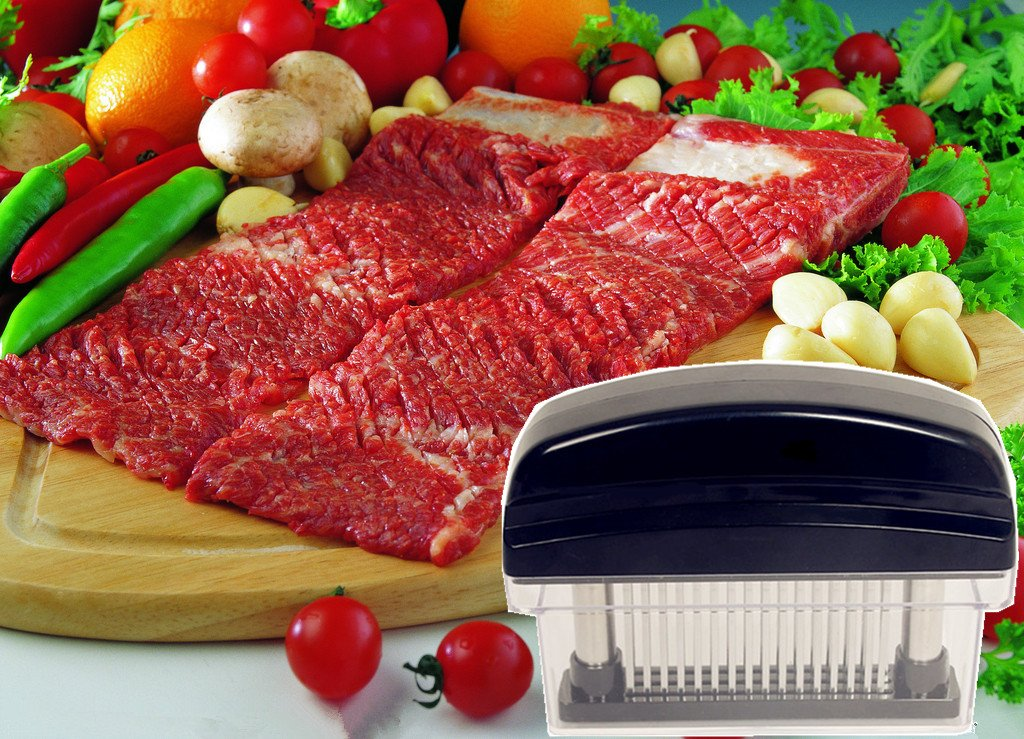 Fanko Professional Grade 48 Blade Meat Tenderizer Tool Compare To Jaccard Tenderizer (Black) by Fanko