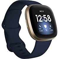Fitbit Versa 3 - Smartwatch de salud y forma física con GPS integrado, análisis continuo de la frecuencia cardiaca…
