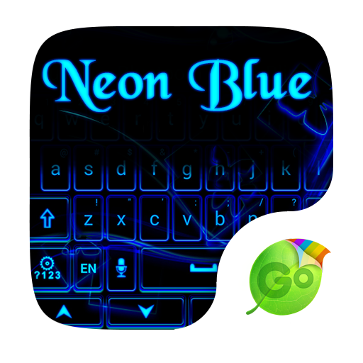 Neonblue Keyboard Theme  Emoji