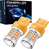 Combriller 7440 Led Bulb Amber, T20 7441 7444 7443 Led Bulb with Projector Replacement for Led Reverse Lights Turn Signal Bul