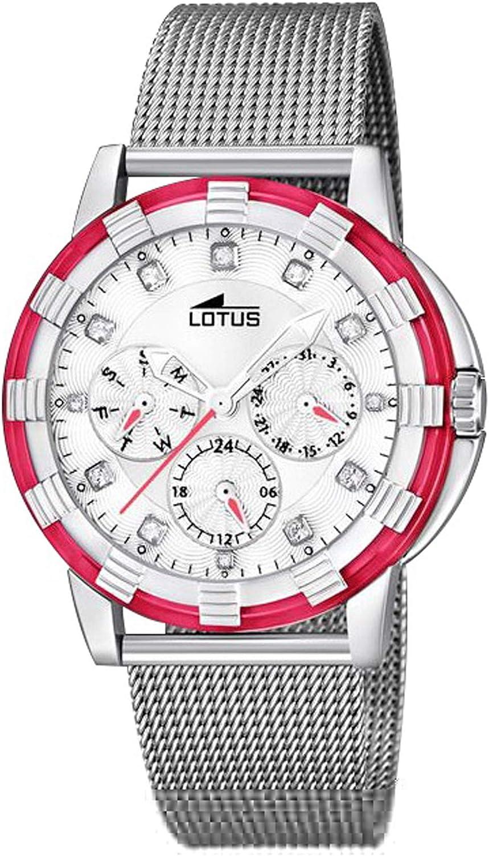 Lotus Watches Reloj para Mujer Analógico de Cuarzo con Brazalete de Acero Inoxidable 15746/L