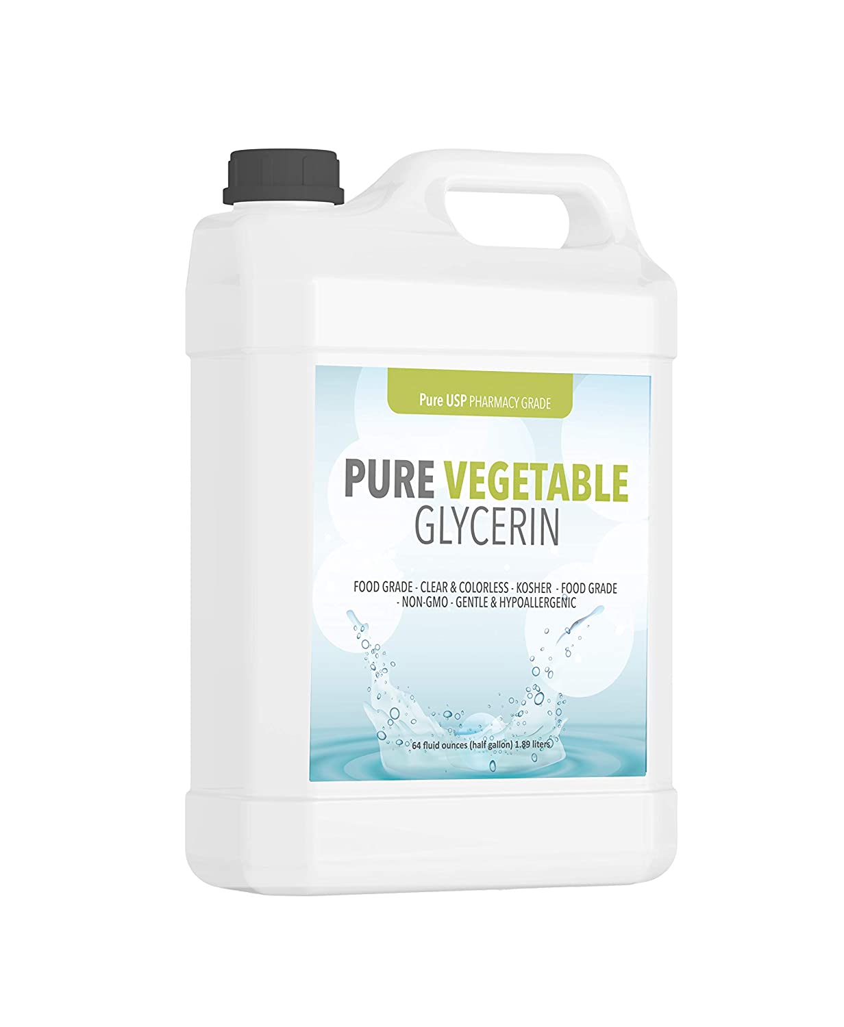 Vegetable Glycerin Half Gallon (64 oz.) by Pure Organic Ingredients, Kosher, Vegan, Food & USP Pharmaceutical Grade